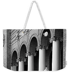 Weekender Tote Bag featuring the photograph Courthouse Columns by Richard Rizzo