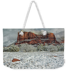 Courthouse In Winter Weekender Tote Bag by Tom Kelly