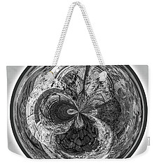 Weekender Tote Bag featuring the photograph Courtyard Orb by Judy Wolinsky