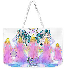Weekender Tote Bag featuring the digital art Cousins by Barbara Tristan