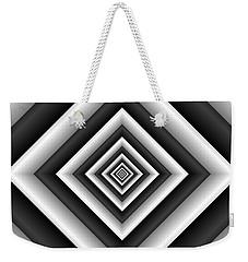 Covariance  6 Modern Geometric Black White Weekender Tote Bag