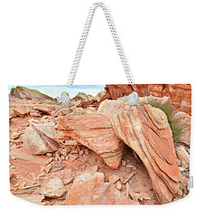 Weekender Tote Bag featuring the photograph Cove Of Sandstone Shapes In Valley Of Fire by Ray Mathis