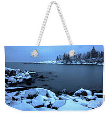 Cove Point Lodge Lake Superior Minnesota Weekender Tote Bag