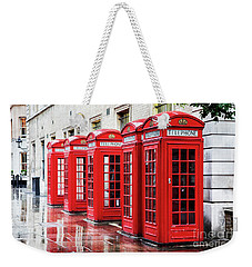 Covent Garden Phone Boxes Weekender Tote Bag