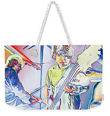 Weekender Tote Bag featuring the drawing Coventry Phish by Joshua Morton