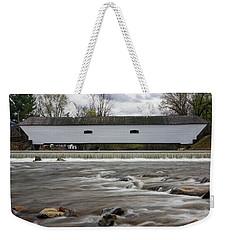 Covered Bridge In March Weekender Tote Bag