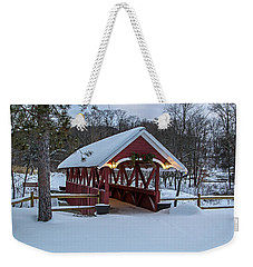 Covered Bridge In The Winter Weekender Tote Bag