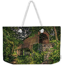 Weekender Tote Bag featuring the photograph Covered Bridge by Lewis Mann