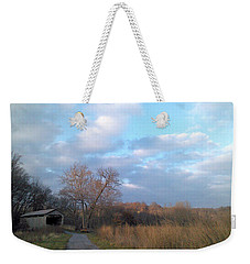 Weekender Tote Bag featuring the photograph Covered Bridge by Melinda Blackman
