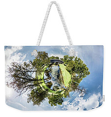 Weekender Tote Bag featuring the photograph Covered Bridge by Randy Scherkenbach
