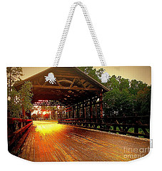 Weekender Tote Bag featuring the photograph Covered Bridge by Shelia Kempf