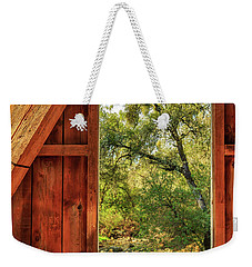 Weekender Tote Bag featuring the photograph Covered Bridge Window by James Eddy