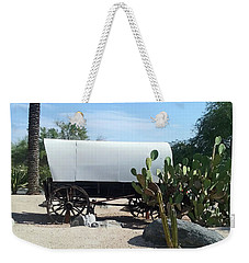 Weekender Tote Bag featuring the photograph Covered Wagon by Jay Milo