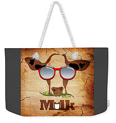 Cow Art Weekender Tote Bag
