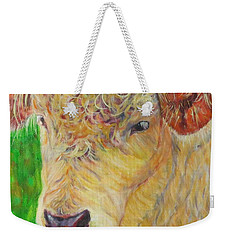 Cute And Curly Cow Weekender Tote Bag