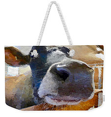 Cow Face Close Up Weekender Tote Bag