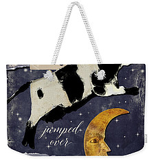 Cow Jumped Over The Moon Weekender Tote Bag