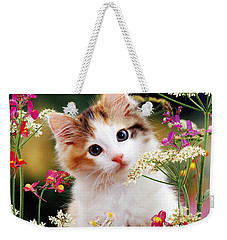 Cow Parsley Cat Weekender Tote Bag