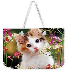 Cow Parsley Cat Weekender Tote Bag