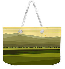 Cow Pass Spring Green Weekender Tote Bag
