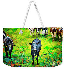 Weekender Tote Bag featuring the photograph Cow Patch by Craig J Satterlee