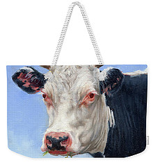 Cow Portrait  Mini Painting Weekender Tote Bag