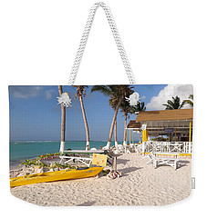 Weekender Tote Bag featuring the photograph Cow Wreck Bay Beach Bar 2 by Eric Glaser