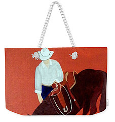 Cowboy And His Horse Weekender Tote Bag