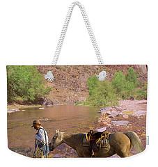 Cowboy And Horse Weekender Tote Bag