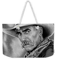 Cowboy Bw Weekender Tote Bag