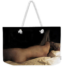 Weekender Tote Bag featuring the photograph Cowboy Dreaming by RC deWinter