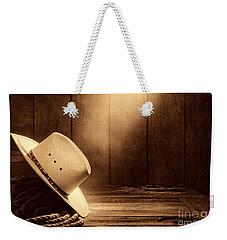 Cowboy Hat In The Old Barn Weekender Tote Bag