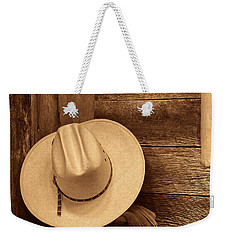 Cowboy Hat In Town Weekender Tote Bag by American West Legend By Olivier Le Queinec