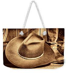 Cowboy Hat On Floor Weekender Tote Bag