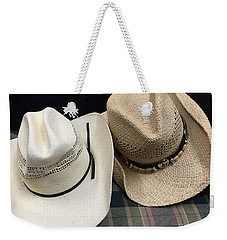 Cowboy Hats Weekender Tote Bag by Renie Rutten
