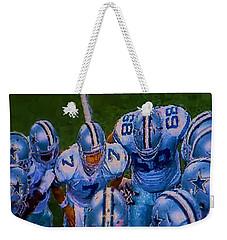 Cowboy Huddle Weekender Tote Bag
