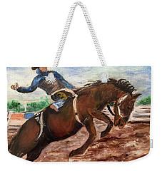 Cowboy In A Rodeo Weekender Tote Bag