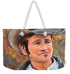 Cowboy Weekender Tote Bag by Jieming Wang