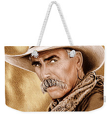 Cowboy Sepia Edit Weekender Tote Bag