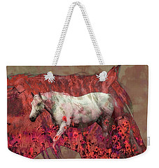 Cowgirl And Her Horses Weekender Tote Bag by Toma Caul