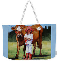 Cowgirl Besties Weekender Tote Bag by Margaret Stockdale