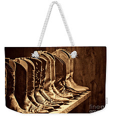 Cowgirl Boots Collection Weekender Tote Bag by American West Legend By Olivier Le Queinec