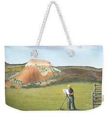 Cowgirl Easel Weekender Tote Bag