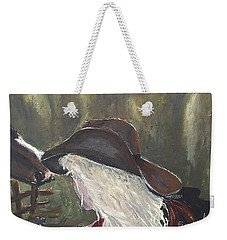 Weekender Tote Bag featuring the painting Cowgirl by Miroslaw  Chelchowski