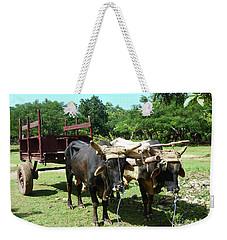 Cows And Cart Weekender Tote Bag