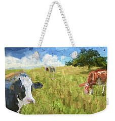 Cows In Field, Ver 2 Weekender Tote Bag