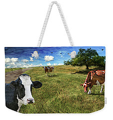 Cows In Field, Ver 3 Weekender Tote Bag