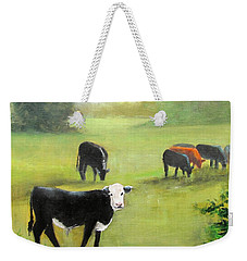 Cows In Pasture Weekender Tote Bag