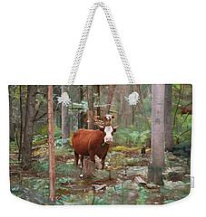Cows In The Woods Weekender Tote Bag