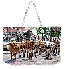 Cowtown Stockyards Weekender Tote Bag